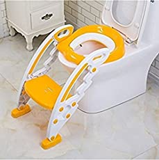 Gion Foldable Baby Kids Potty Trainer Seat for Toilet Potty Stand Seat with Ladder for Kids