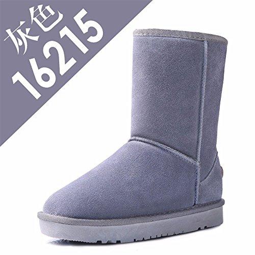 FLYRCX Winter Leisure fashion Snow Boots caldo cashmere lady con anti-skid scarpe in pelle C