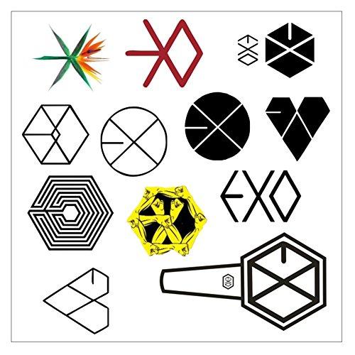 HHMao Exquisite BTS Twice Wanna ONE EXO umliegenden Cartoon Aufkleber - BTS Cartoon Modelle Crystal Card Sticker(H03) -