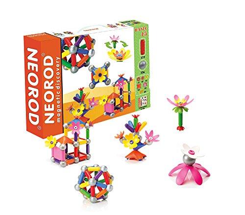 Jeu de construction magnétique, blocs de construction pour enfants, mini jeu éducatif et créatif - 45 pièces (idée cadeau de Noël pour les enfants)