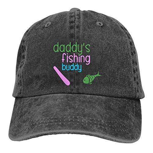 Männer/Frauen Daddys Angeln Buddy Denim Stoff Baseball Cap Einstellbare Trucker Cap one Size Adult Design Printing