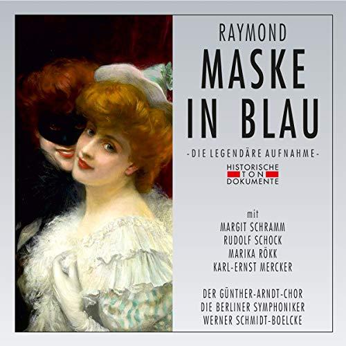 Maske in Blau -