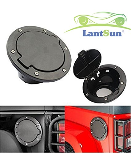 lantsun-black-fuel-filler-door-cover-gas-tank-cap-4-doors-2doors-for-2007-2016-jeep-wrangler-jk-unli