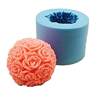 Allforhome DIY Stereo Rose Silicone Handmade Soap Moulds Candle DIY Mold
