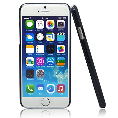 """iProtect Apple iPhone 6 (4,7"""") 6s Hülle Hard Case mit Kunstleder Schutzhülle schwarz rosa Hardcase Leder Rot"""
