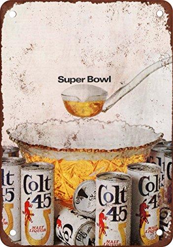 1968-colt-45-licor-de-malta-y-super-bowl-reproduccion-de-aspecto-vintage-metal-sign