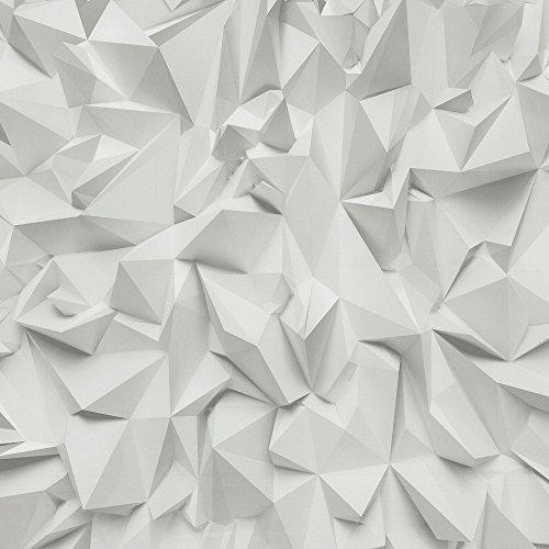 P&S International Zeiten 3D Effekt Dreieckiger Muster Geometrisch Strukturtapete 42097-10