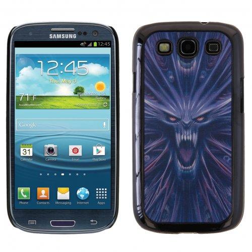 3D MONSTER SHOCK Kunststoffhülle Hülle Schale Schutzhülle Handyhülle Handyschale aus Kunststoff Hardcase für Samsung Galaxy S3, S3 Neo, Schwarz Lila - Dark Metal Dragon