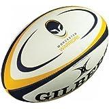 Nuevos Balones Gilbert Réplica de Primera División Inglesa de Rugby Duraderos de Worcester Warrior - Blanco, Mini