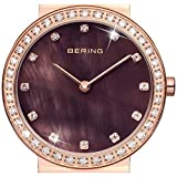 Bering Time Damen-Armbanduhr XS Ceramic Analog Quarz Edelstahl 10725-262