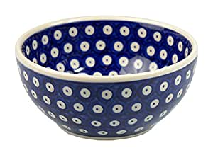 Classic Boleslawiec Pottery Hand Painted Ceramic Bowl 0.85L (16) 072-T-001