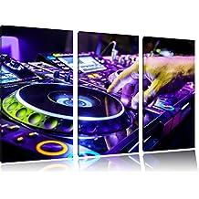 Mischpult, Dj Equipment, 3-Teiler Leinwandbild 120x80 Bild auf Leinwand, XXL riesige Bilder fertig gerahmt mit Keilrahmen, Kunstdruck auf Wandbild mit Rahmen, gänstiger als Gemälde oder Ölbild, kein Poster oder Plakat