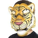 Tiermaske Tiger Löwenmaske Kindermaske Raubkatze Faschingsmaske Löwe Karnevalsmaske Afrika Tigermaske für Kinder