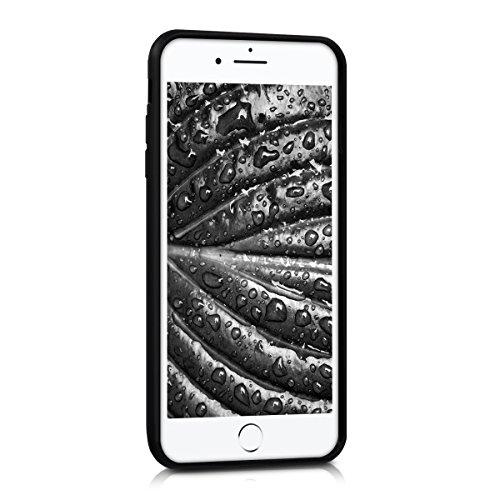 kwmobile Schutzhülle Bumper für Apple iPhone 7 Plus / 8 Plus - Kunststoff Backcover mit TPU Silikon Bumper in Hochglanz Schwarz Hochglanz Schwarz