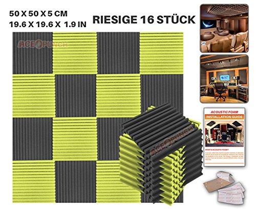 ace-punch-16-stucke-schwarz-und-gelb-metro-streifen-akustikschaumstoff-dammung-mit-freien-befestigun