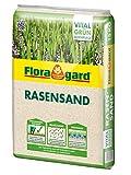 Floragard Rasen-Sand 15 kg für 10m², zur Rasenpflege und Lüften schwerer Böden, streuwagenfähig -