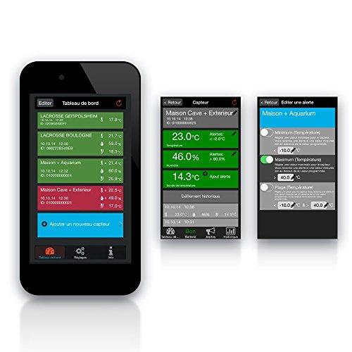 51gGQk76eDL [Bon Netatmo !  La Crosse Technology - Kit Mobile Alerts MA10006 station météo connectée complète avec passerelle - Noir