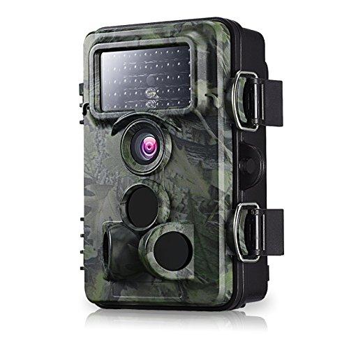 12MP Wildkamera, VicTsing 2.4 Zoll LCD, 1080P HD mit 120° Weitwinkel, IP66 Wasserdichte Wild Camo, Low Glow Infrarot Jagdkamera, Jagdzeug, Überwachungskamera für Nacht Vision