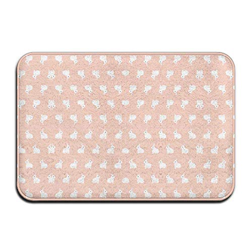 MSGDF Non-Slip Bath Mat, Bathroom Rug Mat, Bunnies On Pink Wallpaper (2909) Senior Design Area Rugs for Living Room,15.7X23.6 Inches(40cmX60cm) - Blue Wallpaper Mountain