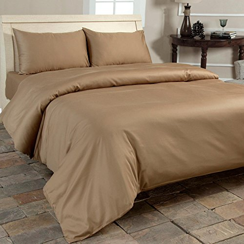 Homescapes 400 Thread Count Organic Brown Egyptian Cotton