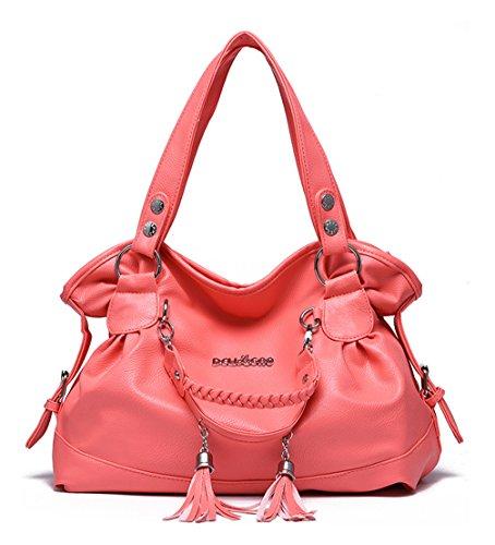 Keshi Pu Niedlich Damen Handtaschen, Hobo-Bags, Schultertaschen, Beutel, Beuteltaschen, Trend-Bags, Velours, Veloursleder, Wildleder, Tasche Wassermelone Rot