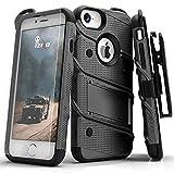 Zizo Bolt Cover Protecteur d'écran de Classe Militaire avec Verre pour iPhone 7 Noir...