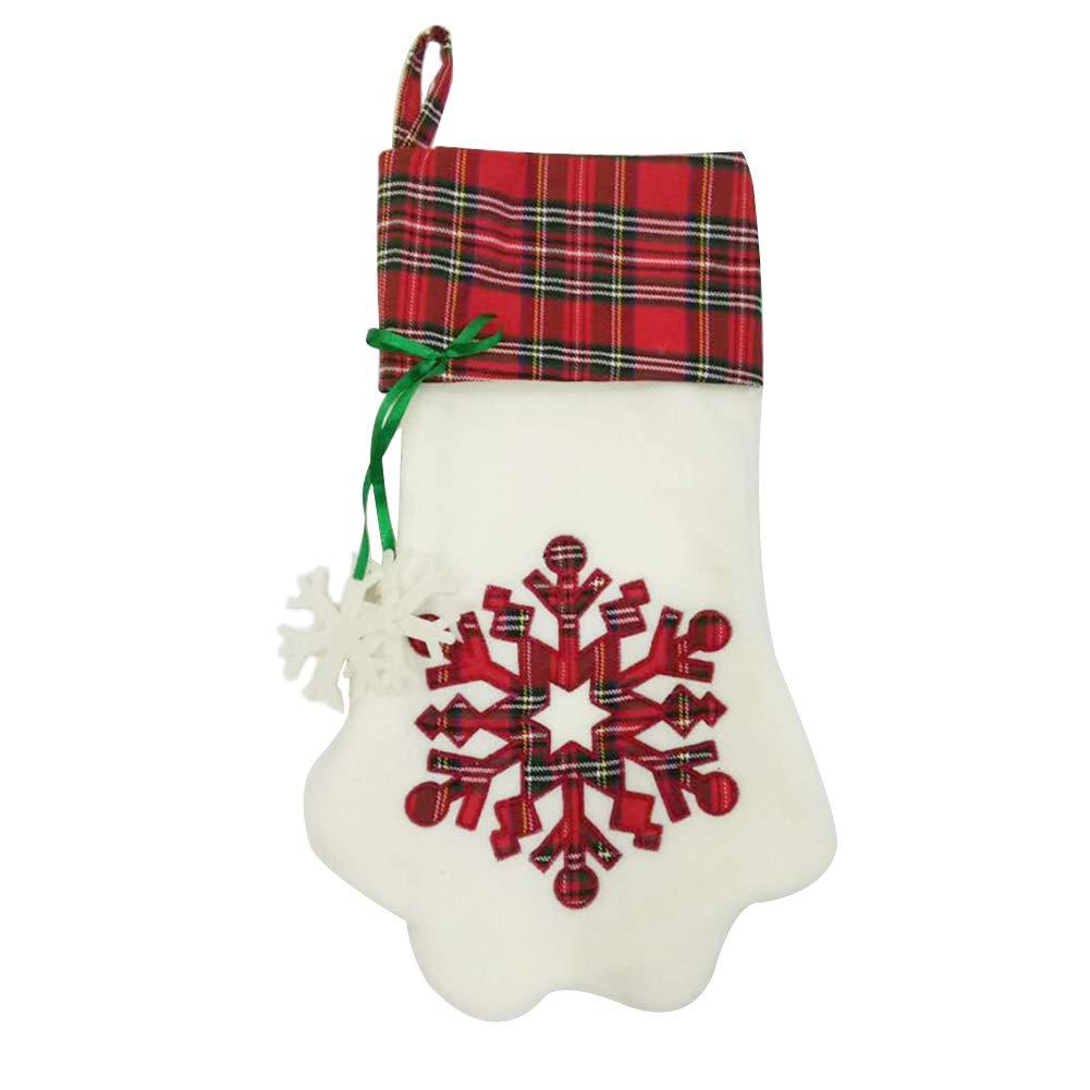 Babbo Natale Zampa.Mogist Calza Di Natale Sacchetto Regalo Creativo Dolce Cane Zampa Forma Di Albero Di Natale Decorazione Ciondolo Stivale Di Babbo Natale Rot