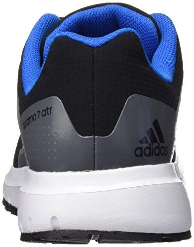 adidas Duramo 7 Atr M, Chaussures de Running Entrainement Homme, Vert, Taille Unique Noir / Bleu (Negbas / Negbas / Azuimp)