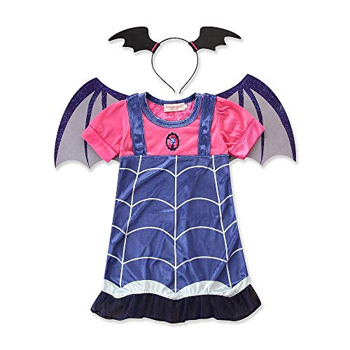 zhenlanshangmao Halloween Dress up Vampire Fledermaus Prinzessin Rock Urlaubsset (7T, ()