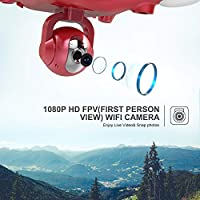 Holy Stone HS100 FPV RC Drone with Adjustable Wide-Angle 1080P HD WIFI Camera Live Video and GPS Return Home Quadcopter - Follow Me, Altitude Hold, Intelligent Battery, Long Control Distance