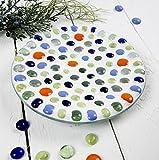 meindekoartikel Traumhafte Glasnuggets Glassteine Muggelsteine Mosaiksteine Streudeko Tischdeko Ø18-20mm H8mm 370g Dose (Grün) - 5