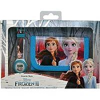 Frozen Set orologio digitale e portafoglio, in scatola 2 braccialetti, per adulti, unisex, multicolore, unico