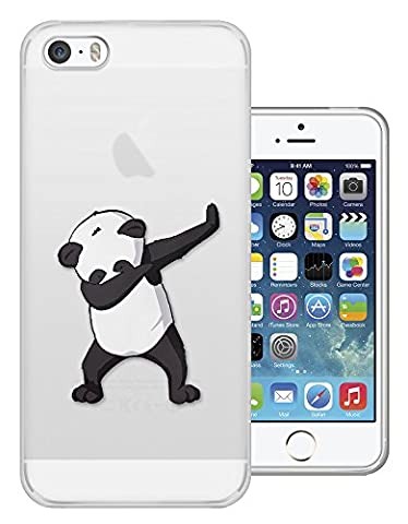 c01419 - Panda DAB Dance Move Rap RnB Design iphone 5C Fashion Trend Protecteur Coque Gel Rubber Silicone protection Case Coque
