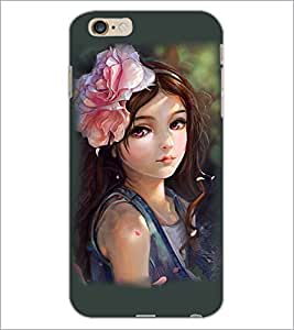 PrintDhaba Cute Girl D-3810 Back Case Cover for APPLE IPHONE 6S (Multi-Coloured)