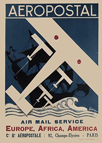 vintage-travel-francia-di-europa-africa-e-degli-stati-uniti-damerica-air-mail-servizio-aeropostal-c1