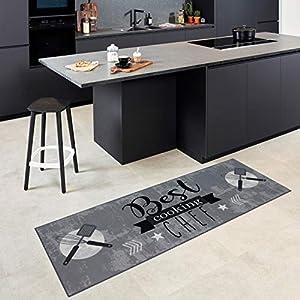 Carpet Studio Teppichläufer,Teppich für Küche, 65x180cm, Rutschfester Rücken, praktische Reinigung, per Hand fertiggestellt, Best Chef