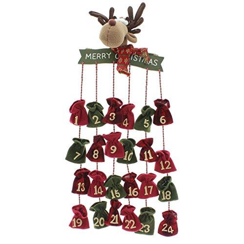"""O. - Calendario con piccolo alce, motivo """"Avvento"""", 24 sacchetti riempibili"""