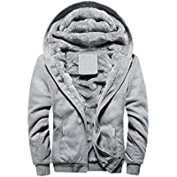 tohole Herren Männer M-5XL Winter Warme Fleece-Mantel, Kapuze Zipper Sweater Jacke Outwear, Herren Winterkleidung Sportbekleidung Große Schlanke Warme Jacke Hoodie Fleece Outwear