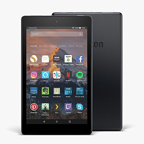 "All-New Fire HD 8 Tablet with Alexa, 8"" HD Display, 16 GB, Black — with Special Offers"