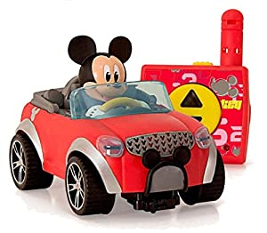 IMC Toys- City Fun Juguete figurina Mickey en su RC Coche, Color Rojo/Negro/Gris, 20 cm (181953)