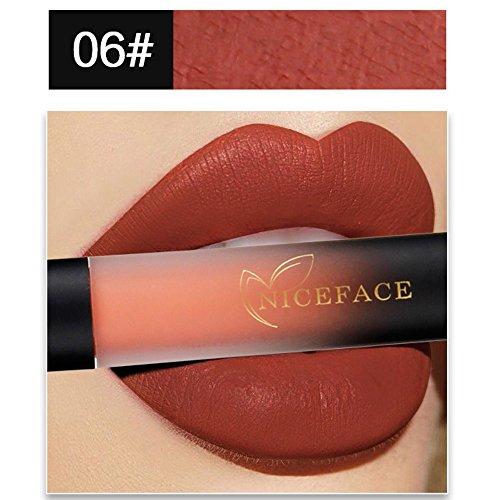 Nouveau 18 couleurs pour les lèvres Lip Matte Liquid Red Waterproof Lip Gloss Makeup trada maquillage au brillant rouge a levres waterproof permanent