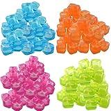 Trends4ever 50 Eiswrfel Party Wiederverwendbar Eiswrfelform Bunt Kunststoff Dauereiswrfel