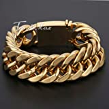 Anvi-Jewellers-18CT-Gold-And-Rohdium-Coated-Mens-Bracelet-At-Special-Raksha-Bandhan-Offer