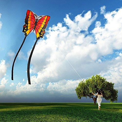 Airtana Gran Mariposa cometa Ideal Para Niños y Adultos * Fácil de Volar con Viento Fuerte o una Suave Brisa *Ligero y Estable