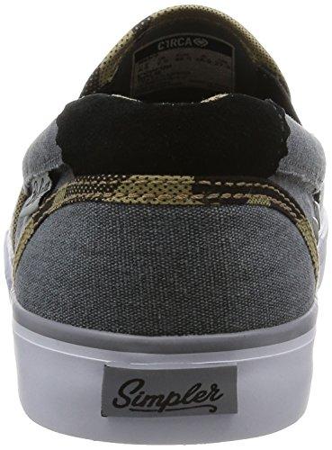 C1RCA, Scarpe da Skateboard uomo Sand/White/Gum Bohnam Charcoal/Camo