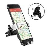 Handyhalter fürs Auto Handyhalterung lueftungsgitter, TOPLUS Handyhalterung auto lüftung für iPhone Samsung Galaxy S8 plus S7 Edge S6 A7 und andere Smartphones oder GPS Gerät(Schwarz-Grau)