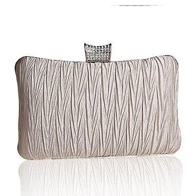 Prägnante diamond Bambus Frauen plissee Abend Tasche Handtasche Almond