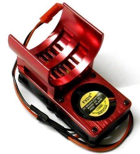 H006R 550 540 Motor Kühler Wärmeableiter Entlüftet Aluminium Rot Doppel Lüfter