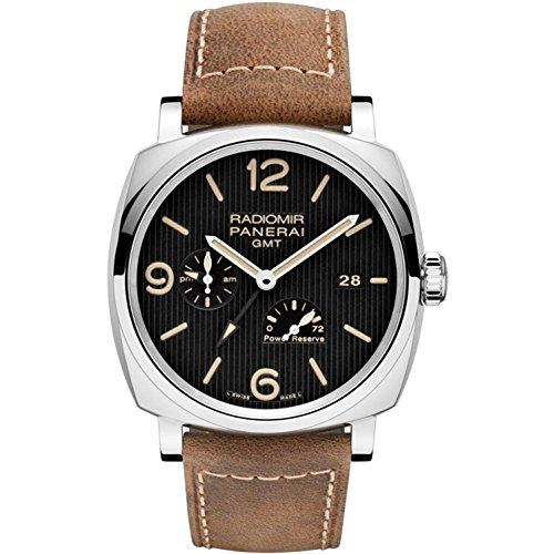 panerai-homme-45mm-bracelet-cuir-marron-boitier-acier-inoxydable-automatique-cadran-noir-montre-pam0
