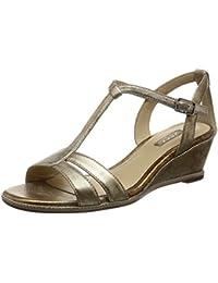 Ecco Damen Rivas 45 Ii Offene Sandalen mit Keilabsatz